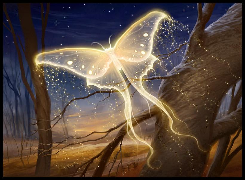 Goldenglow Moth | Illustration by Howard Lyon
