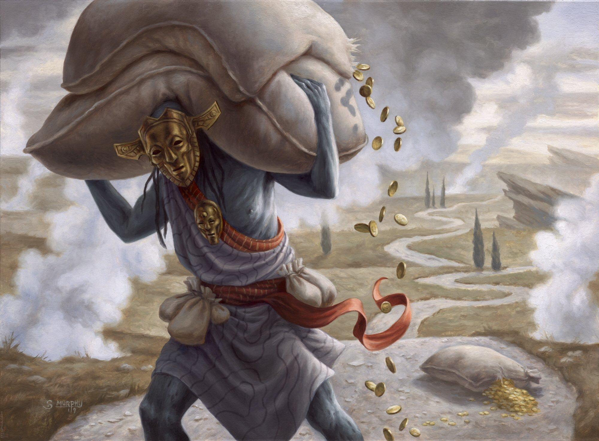 Gray Merchant of Asphodel | Illustrated by Scott Murphy