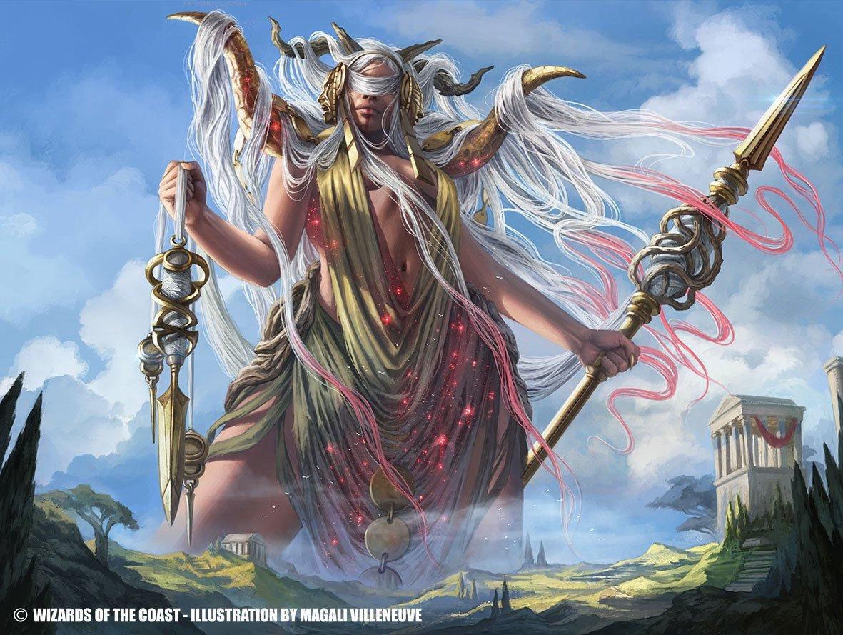 Klothys, God of Destiny | Illustration by Magali Villeneuve