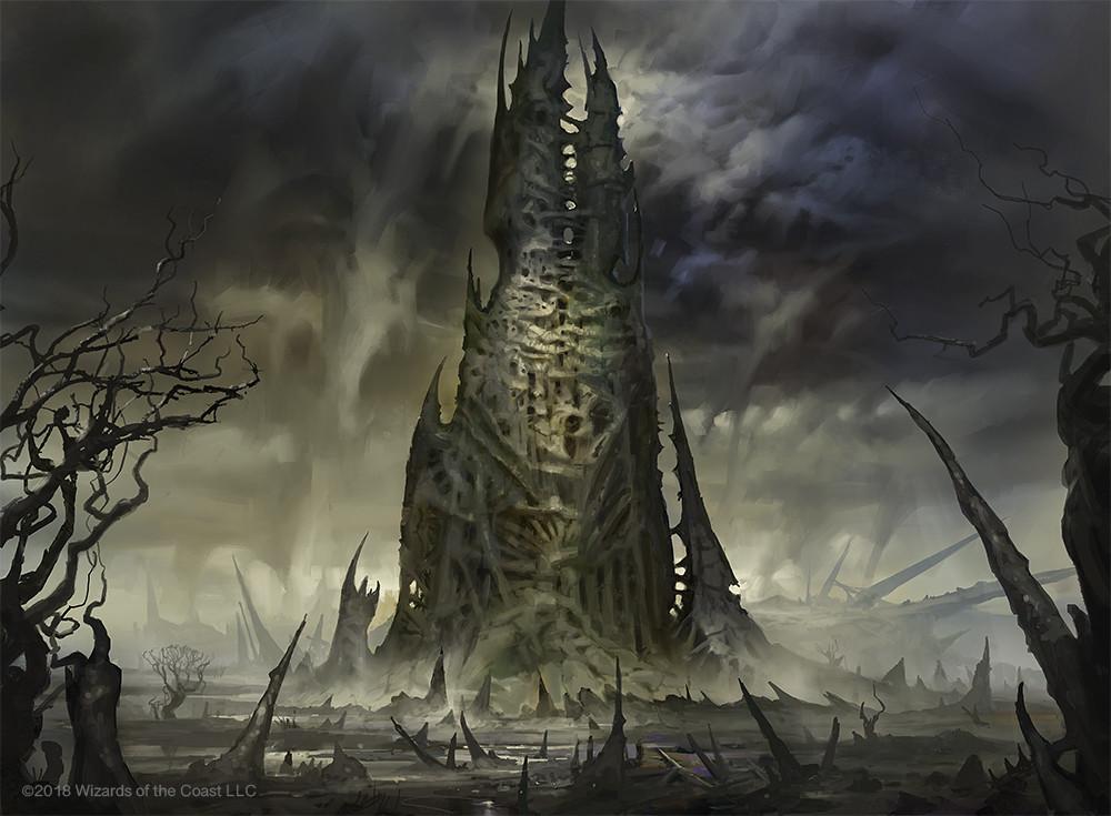 Phyrexian Tower | Illustration by Dimitar Marinski