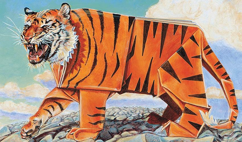Paper Tiger   Illustration by Heather Hudson