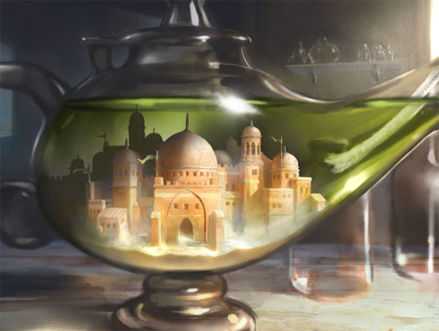 City in a Bottle | Illustration by Daniel Ljunggren