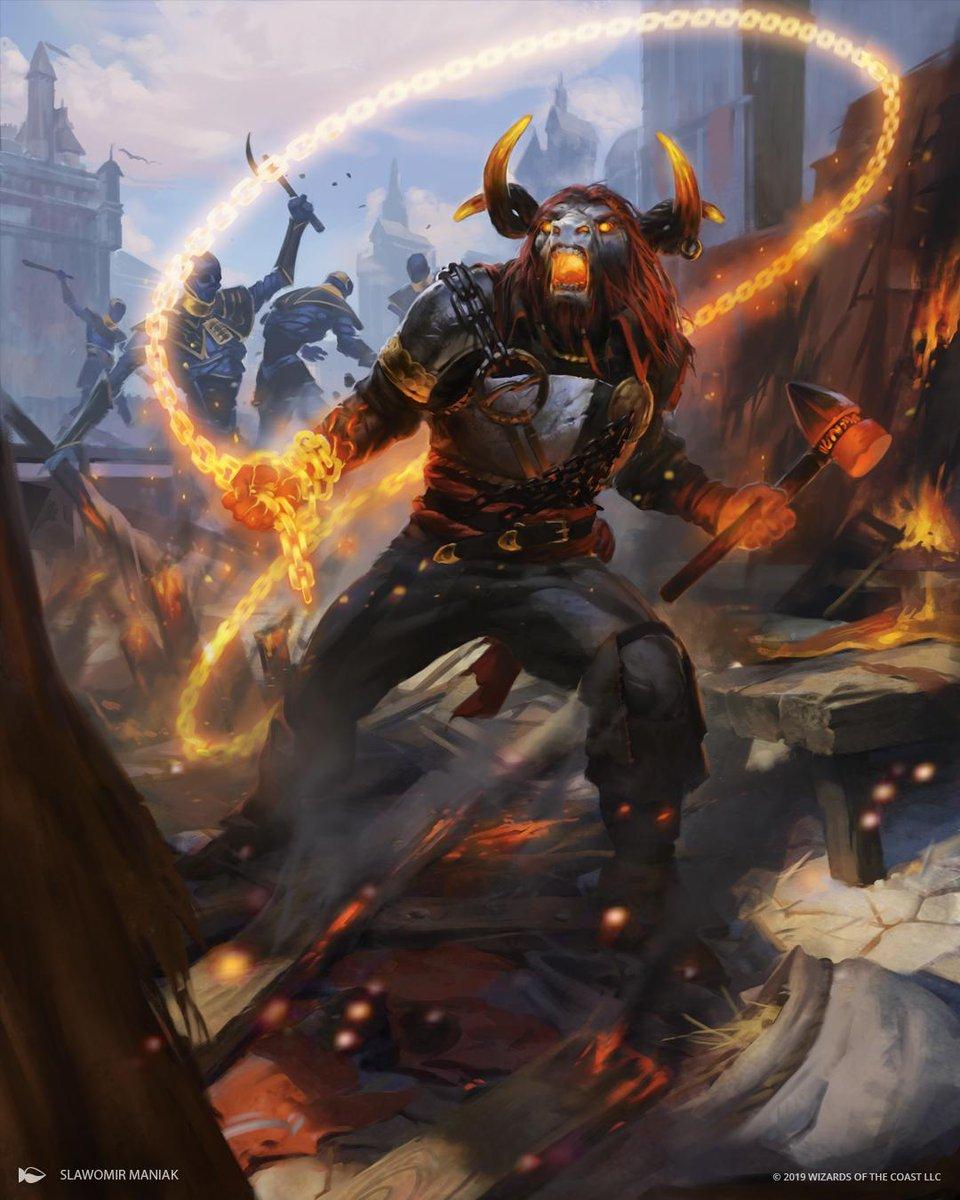 Angrath, Captain of Chaos | Illustration by Slawomir Maniak