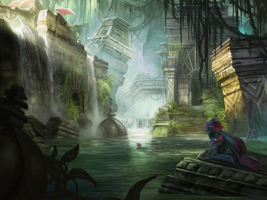 Azcanta, the Sunken Ruin | Illustration by Magali Villeneuve