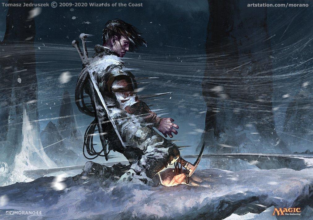 Glacial Grasp | Illustration by Tomasz Jedruszek