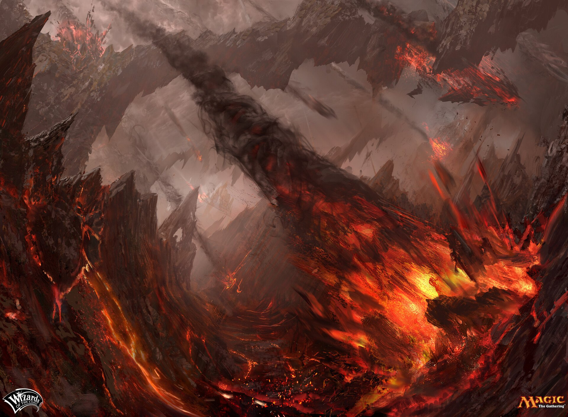 Roil Eruption | Illustration by Campbell White