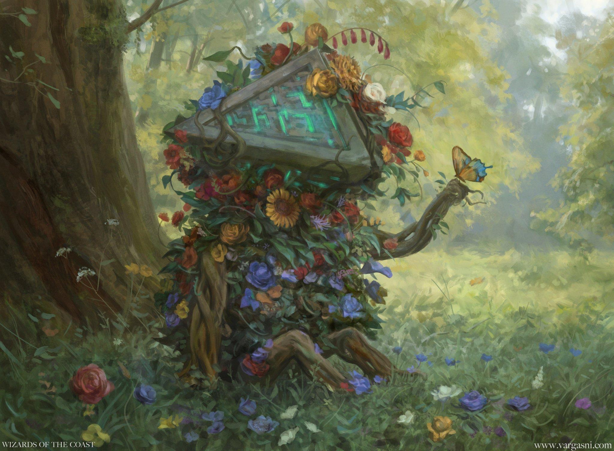 Tangled Florahedron | Illustration by Randy Vargas