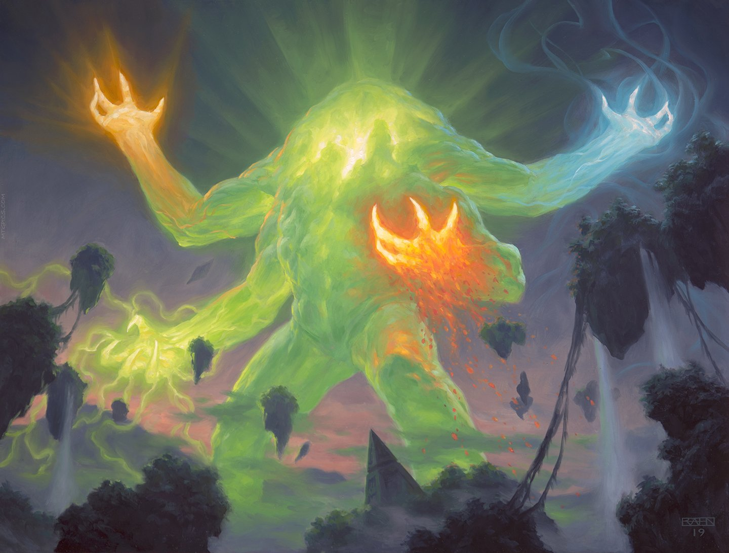 Omnath, Locus of Creation | Illustration by Chris Rahn