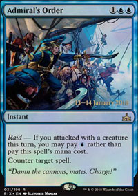 Admiral's Order - Prerelease Promos