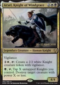 Aryel, Knight of Windgrace - Prerelease