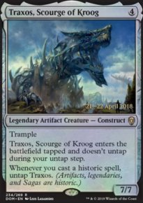 Traxos, Scourge of Kroog - Prerelease Promos