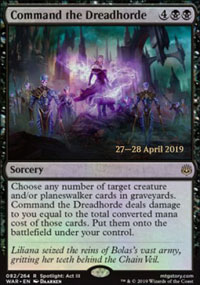 Command the Dreadhorde - Prerelease Promos