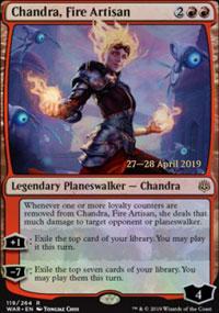 Chandra, Fire Artisan - Prerelease Promos