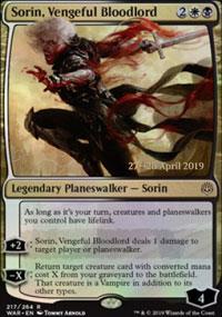 Sorin, Vengeful Bloodlord - Prerelease Promos