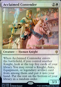 Acclaimed Contender - Prerelease Promos