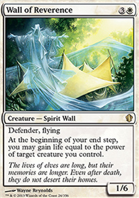 Wall of Reverence - Commander 2013