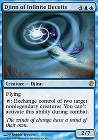 Djinn of Infinite Deceits - Commander 2013