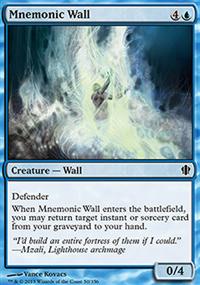 Mnemonic Wall - Commander 2013