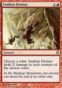 Sudden Demise - Commander 2013