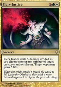 Fiery Justice - Commander 2013