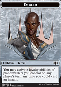 Emblem Teferi, Temporal Archmage - Commander 2014