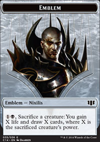 Emblem Ob Nixilis of the Black Oath - Commander 2014