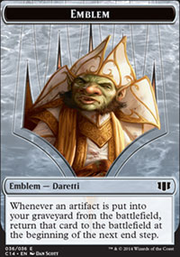 Emblem Daretti, Scrap Savant - Commander 2014