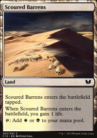 Scoured Barrens - Commander 2015