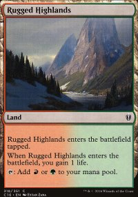 Rugged Highlands - Commander 2016
