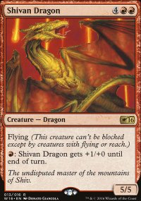 Shivan Dragon - Welcome Deck 2016