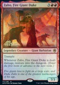 Zalto, Fire Giant Duke - Prerelease Promos