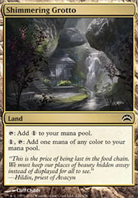 Shimmering Grotto - Planechase 2012 decks