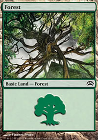 Forest 5 - Planechase 2012 decks