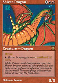 Shivan Dragon - Masters Edition IV