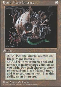 Black Mana Battery - 4th Edition