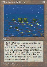 Blue Mana Battery - 4th Edition