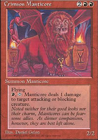 Crimson Manticore - 4th Edition