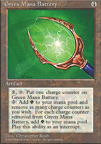 Green Mana Battery - 4th Edition