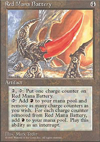 Red Mana Battery - 4th Edition