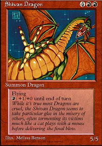 Shivan Dragon - 4th Edition