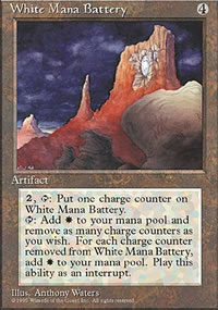 White Mana Battery - 4th Edition