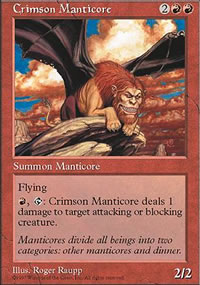 Crimson Manticore - Fifth Edition
