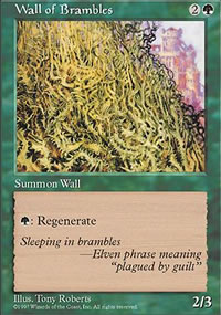 Wall of Brambles - 5th Edition
