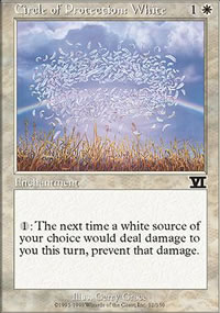 Circle of Protection: White - 6th Edition