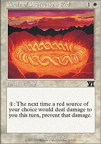 Circle of Protection: Red - 6th Edition