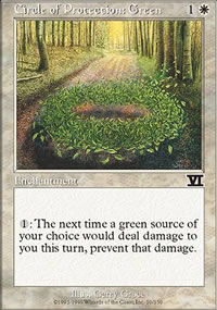 Circle of Protection: Green - 6th Edition