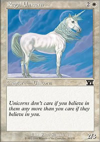 Regal Unicorn - 6th Edition