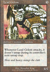 Lead Golem - 6th Edition