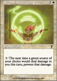 Circle of Protection: Green - 7th Edition