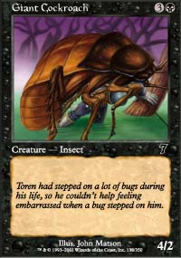 Giant Cockroach - 7th Edition